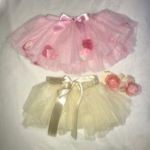 Baby girl photo shoot tutu bundle